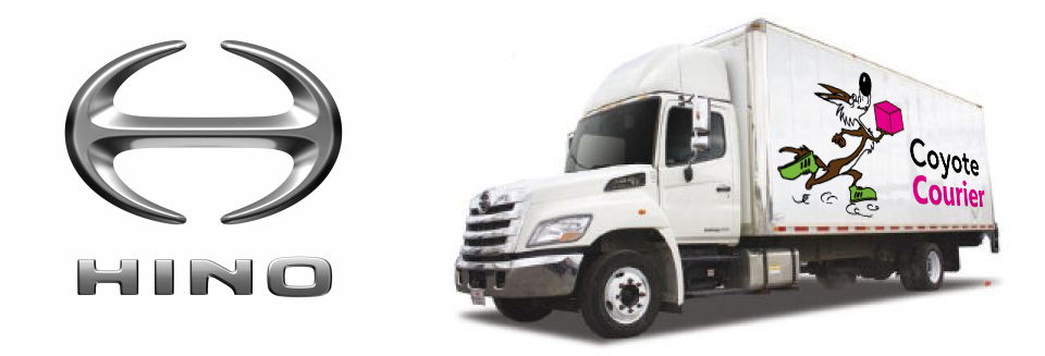 Coyote Courier Hino Truck